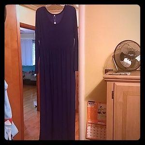 Maxi navy blue dress
